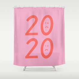 2020 Unhappy Emoji Year Shower Curtain