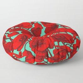 Poppies I Floor Pillow
