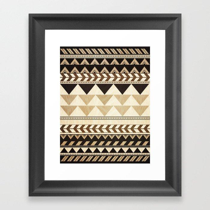 Woodwork Pattern Gerahmter Kunstdruck