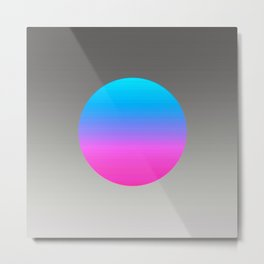 Turquoise Hot Pink Focal Point Metal Print