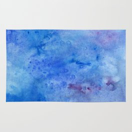 Mariana Trench Watercolor Texture Rug