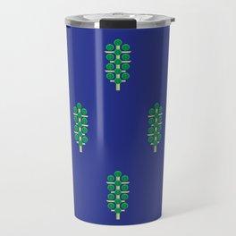 Vegetable: Brussels Sprout Blue Travel Mug