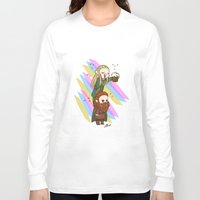 legolas Long Sleeve T-shirts featuring Party Legolas and Gimli  by BlacksSideshow