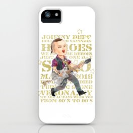 Rock Star Johnny Depp iPhone Case