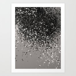 Silver Gray Glitter #1 #shiny #decor #art #society6 Art Print