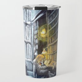 Hermione studying in the library Travel Mug
