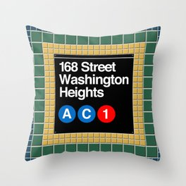 subway washington heights sign Throw Pillow