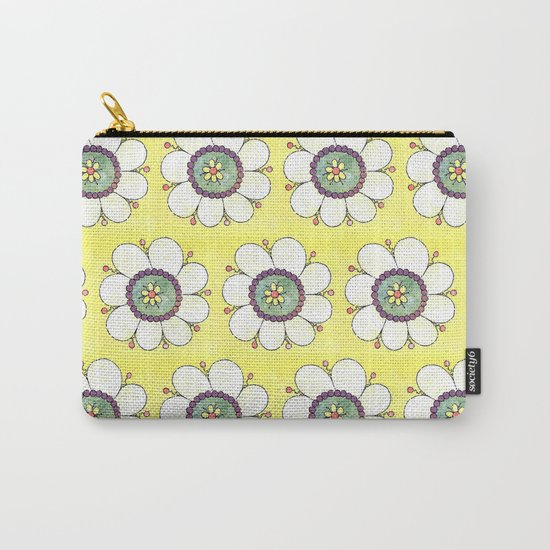 Crazy Daisies Carry-All Pouch