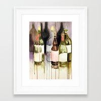 drunk Framed Art Prints featuring Drunk by Andrea Leng