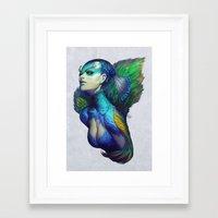 artgerm Framed Art Prints featuring Peacock Queen by Artgerm™