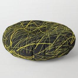 INDUSTRIAL DESIGN yellow black laser light ray night scaffolding Angelis Floor Pillow