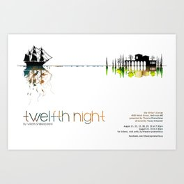 """Twelfth Night"" poster Art Print"