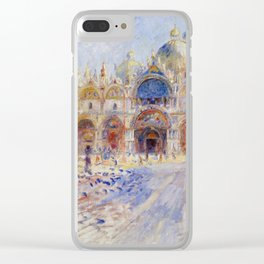 Auguste Renoir - The Piazza San Marco in Venice Clear iPhone Case