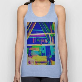 Industrial Abstract Blue Unisex Tank Top