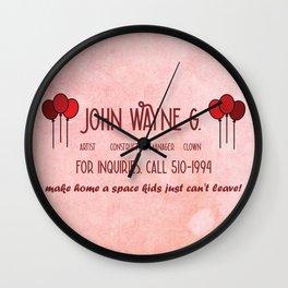 John Wayne G's Card Wall Clock