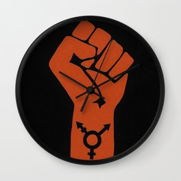 Transgender Solidarity Wall Clock
