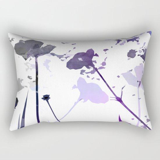 Field of Flowers Indigo Rectangular Pillow
