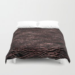 sparkling rose waves Duvet Cover