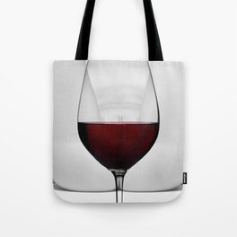 Red wine and naked woman Tote Bag