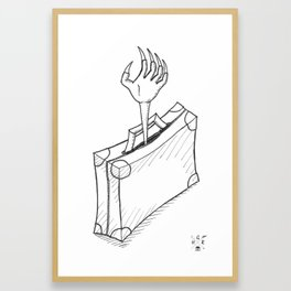 Newt's Bag. Framed Art Print