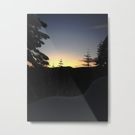 Sunset in the Snow Metal Print