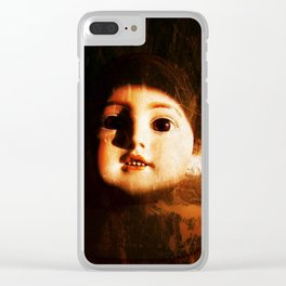 Creepy Baby Doll Clear iPhone Case