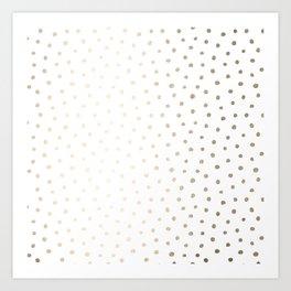 Golden Polka Dots Art Print