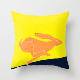 Race Hare Throw Pillow