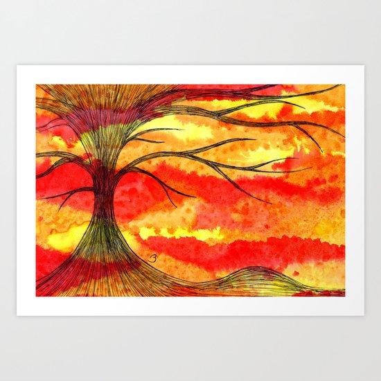 Volcanic End Art Print