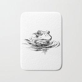 Head of the frog Bath Mat