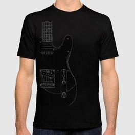 Electric Guitar Drawing T-shirt