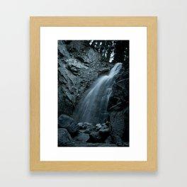Blue Satin Framed Art Print