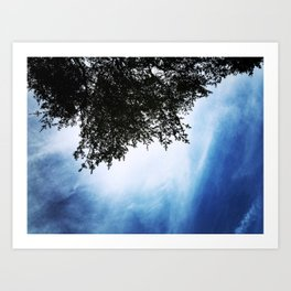 Tree Silhouette Art Print