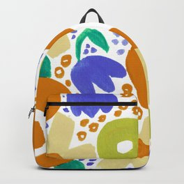 Bold Abstract Floral Inspired Pattern (Harvest Colors) Backpack