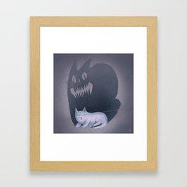 Fraidy Cat Framed Art Print