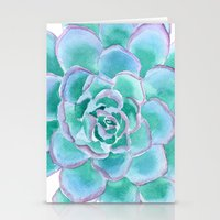 succulent Stationery Cards featuring Succulent by Susan Windsor