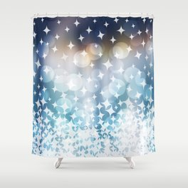 Stardust and Light Shower Curtain