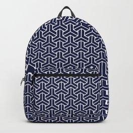 Japanese Yukata Jinbei Bishamon Navy pattern Backpack