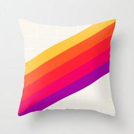 VHS Rainbow 80s Video Tape Throw Pillow