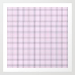 Not Your Granny's Square Pattern in Millennial Pink Art Print