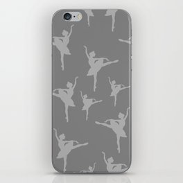 Grey Ballerinas iPhone Skin