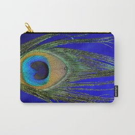 Peacock Feather Macro Carry-All Pouch