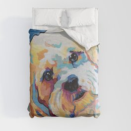 Maltipoo, Cavapoo, Cavachon, Cockerpoo, Mix Breed Custom Pop Art Pet Portrait Comforters