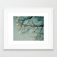 the lights Framed Art Prints featuring Lights  by Laura Ruth