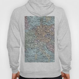 old map of Europe Hoody