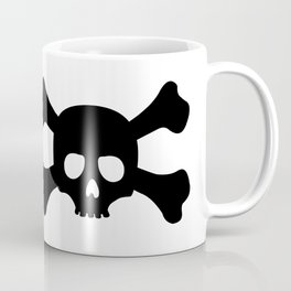 Simple Black Skull and Crossbones Coffee Mug