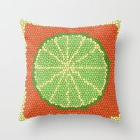 coasters Throw Pillows featuring LIME MOSAIC by Tanya Pligina