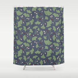 Ginko Leaves Pattern Shower Curtain