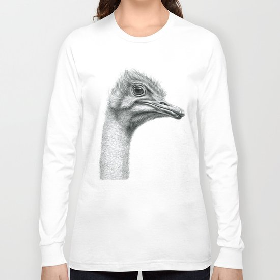 Funny Ostrich SK061 Long Sleeve T-shirt