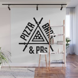 Pizza, Bars and PRs Fitness Triangle v2 Wall Mural